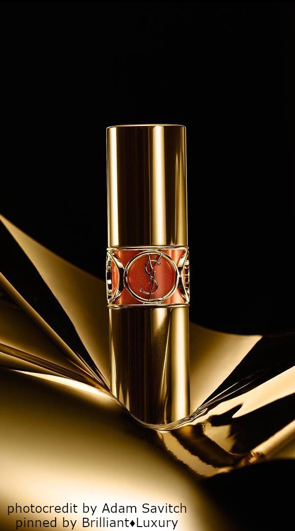 Brilliant Luxury♦SAINT LAURENT Lipstick (photocredit by Adam Savitch) #beauty #black #gold