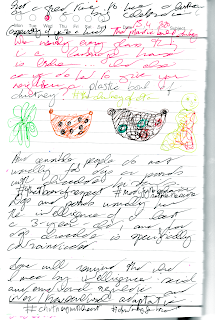 """""""When nearly every glass thing in a Cambridge house is broken ... what else can you do but to give your neighbour a plastic bowl of chutney"""" #thechutneyofeton [Image of herbs and two bowls of chutney and a green-yellow-orange-red human] [text resumes] """"And sensible people do not usually fob off dogs or parrots with chocolate biscuits"""" [hashtags] #thatbarofrespect #modifythebehavioursettlethescore [text resumes; new paragraph] Dogs and parrots usually have the intelligence of at least a 3-year-old; and for dogs chocolate is specifically contraindicated. [paragraph ends] [new paragraph] Some will remind that what I mean by [emphasis] intelligence [emphasis ends] : social and emotional regulation and inter/transcultural adaptation. [hashtags] #chutneywithheart #chutneyforbrains [hashtags end] Not a great time to have a birthday or a big celebration (especially if you're a kid)!"""