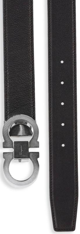 Salvatore Ferragamo Adjustable & Reversible Gancini Buckle Belt
