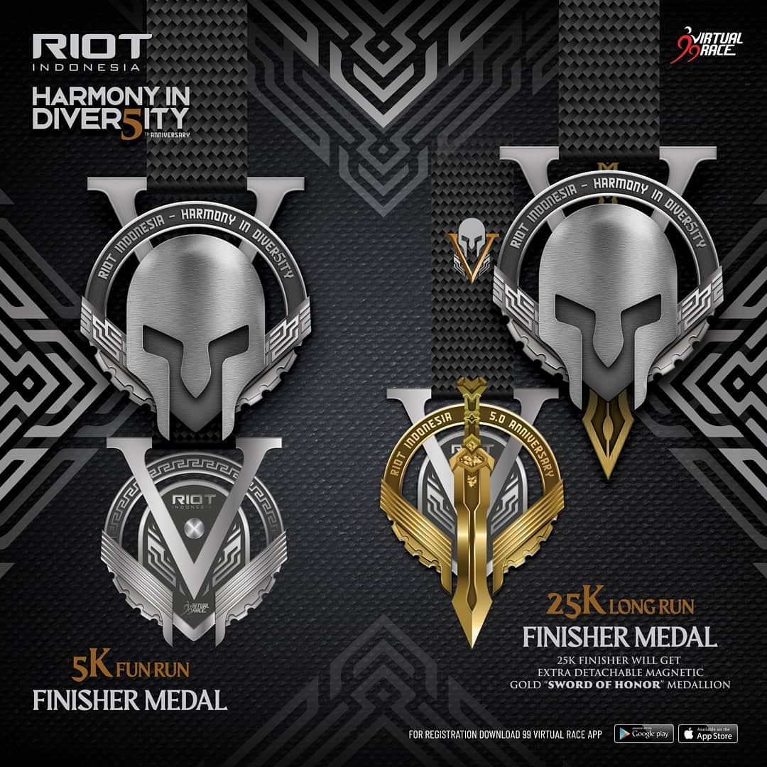 Medal � RIOT 5th Anniversary Virtual Run • 2021