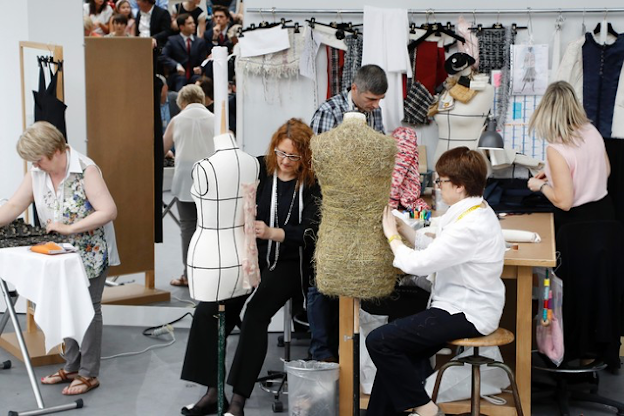 One of Chanel's haute couture workshops