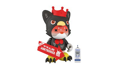 King Janky the 5.5 General Janky's Hot 'N Sweaty Wings Edition Mini Figure by SUPERPLASTIC (Huck Gee x Paul Budnitz)