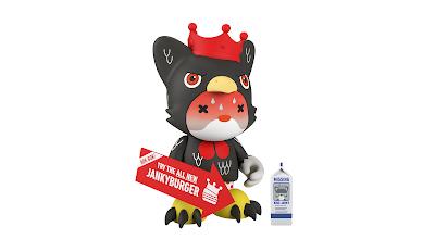 King Janky the 5.5 General Janky's Hot 'N Sweaty Wings Edition Mini Figure by SUPERPLASTIC (Huck Gee x Paul Budnitz)