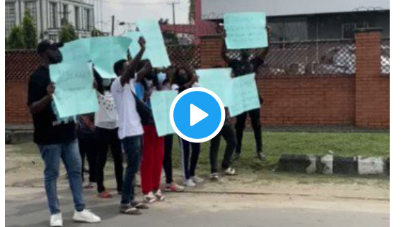 BBNaija: Watch the protest Pere fans staged today at Ilupeju, Lagos State (video)