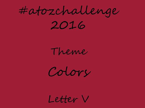#atozchallenge 2016/V is for Vivid Burgundy