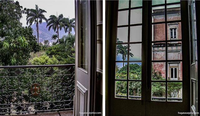Detalhes do casarão da Quinta da Boa Vista, residência da Família Imperial brasileira