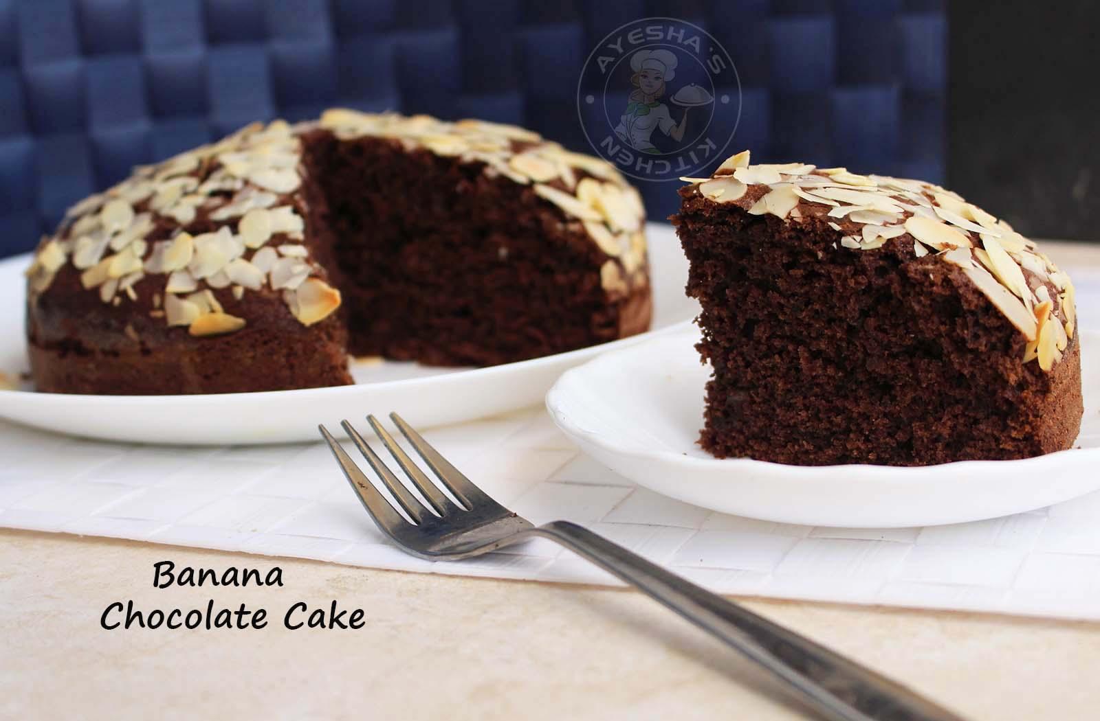DARK CHOCOLATE CAKE RECIPE - EASY CHOCOLATE BANANA CAKE