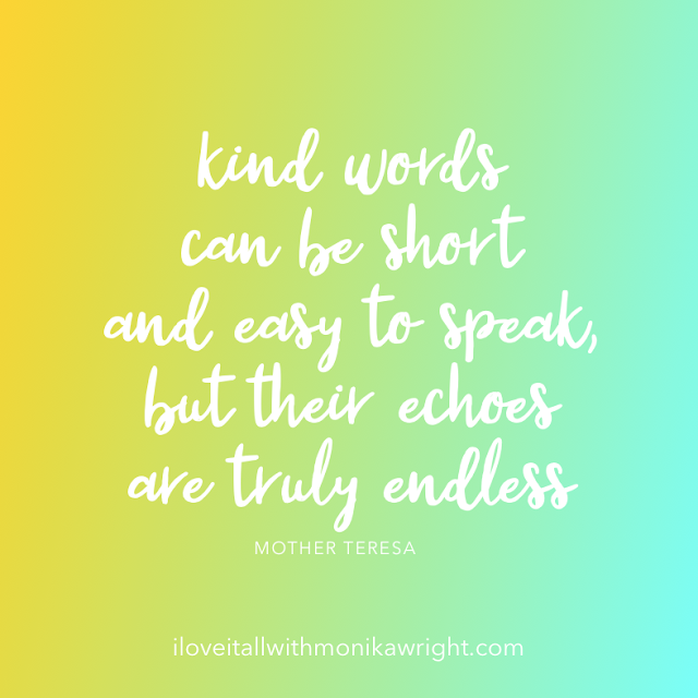 #The Sunday Quote #kind words #Mother Teresa #quote #quotes #gratitude #thankful #mindfulness