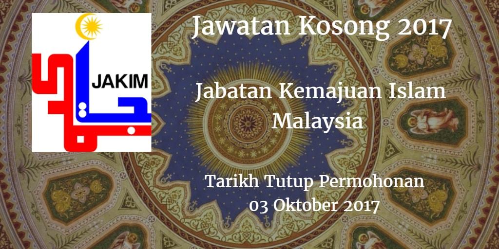 Jawatan Kosong JAKIM 03 Oktober 2017