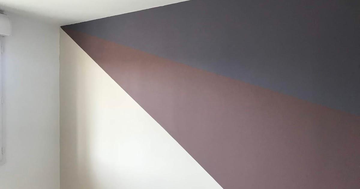 comment peindre un mur en trois couleurs comme on est. Black Bedroom Furniture Sets. Home Design Ideas