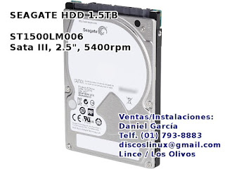 Disco Duro ST1500LM006 1.5 TB para PS4 en Lima Peru