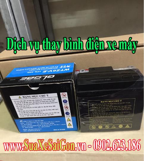 Giá thay bình điện Ắc quy xe Honda SH Mode chính hãng