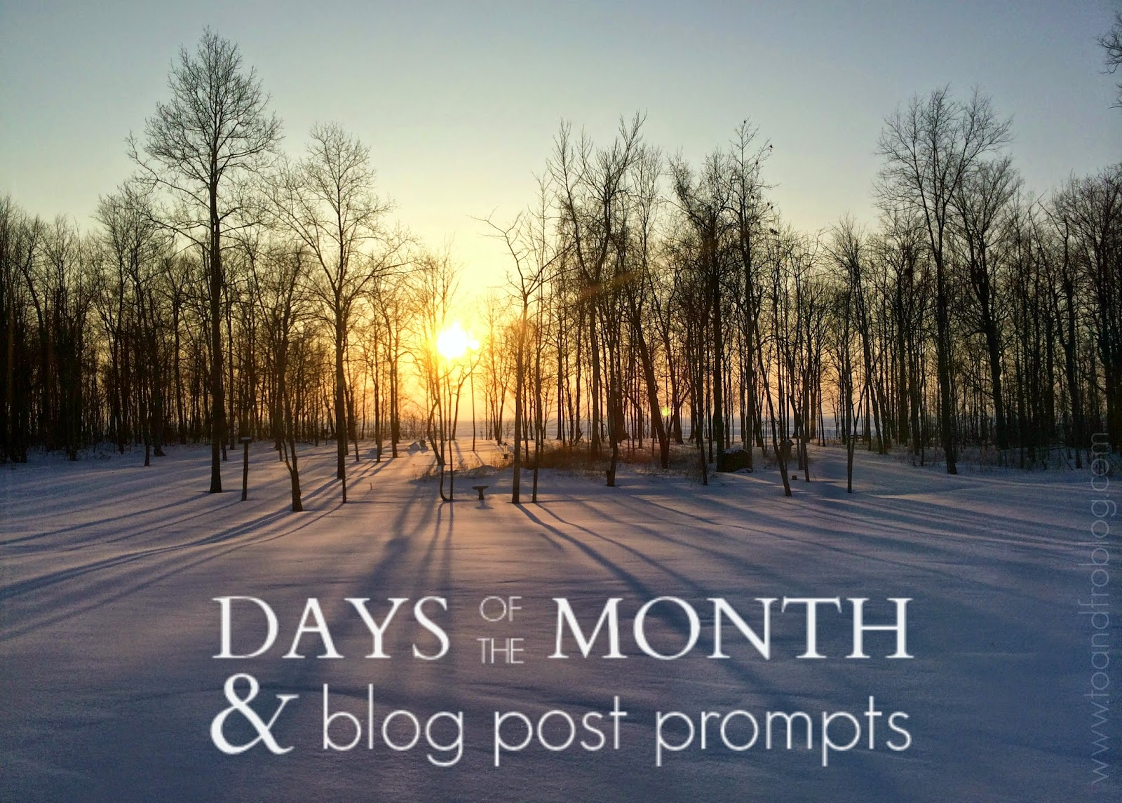 February Days of the Month + Blog Post Ideas