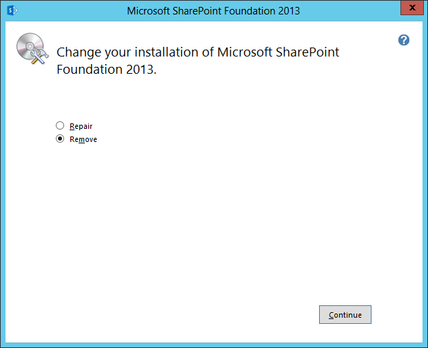 how to uninstall sharepoint 2013