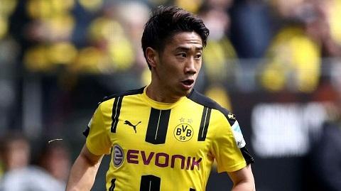 Shinji Kagawa từng chơi cho Dortmund ở mùa giải Bundesliga 2011 - 2012.