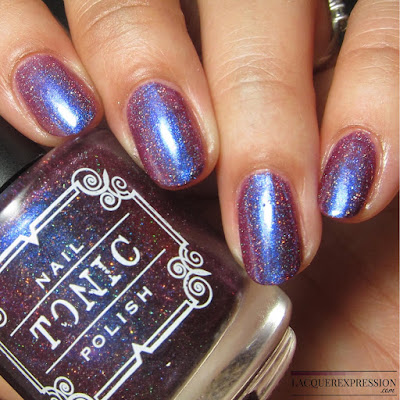Nail polish swatch of Blanche by indie polish maker Tonic Polish for the Multichrome Madness Group on Facebook