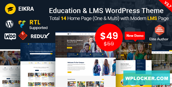 Eikra Education v3.8.3 - Education WordPress Theme