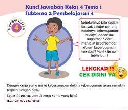 Kunci Jawaban Kelas 4 Tema 1 Subtema 2 Pembelajaran 4 www.simplenews.me