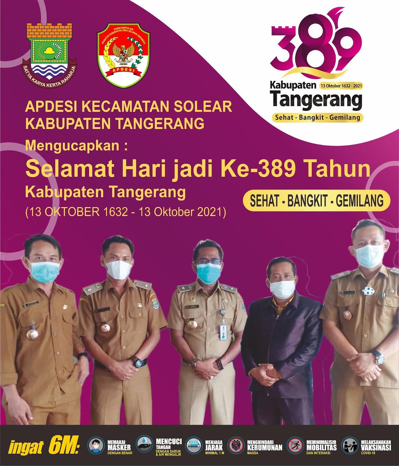 Hari Jadi Kabupaten Tangerang Ke-389 Apdesi Kecamatan Solear