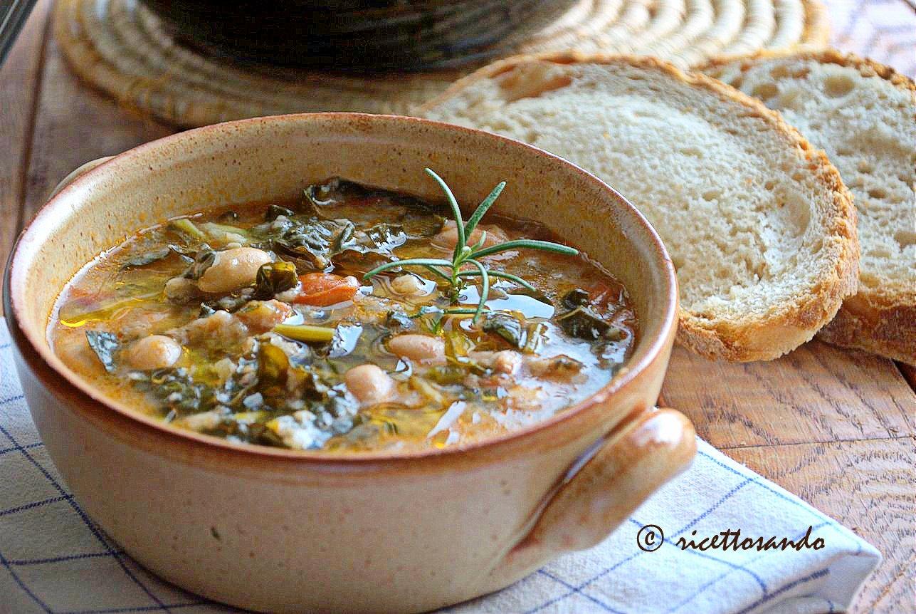 Ribollita toscana Ribollita toscana ricetta zuppe tradizionali di origine contadina, il suo nome deriva dal suo riuso