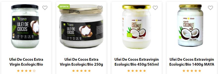 ulei de cocos extravirgin ecologic vegis
