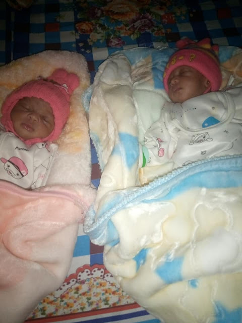 Couples welcome Twins after 9 years of waiting (Photos)