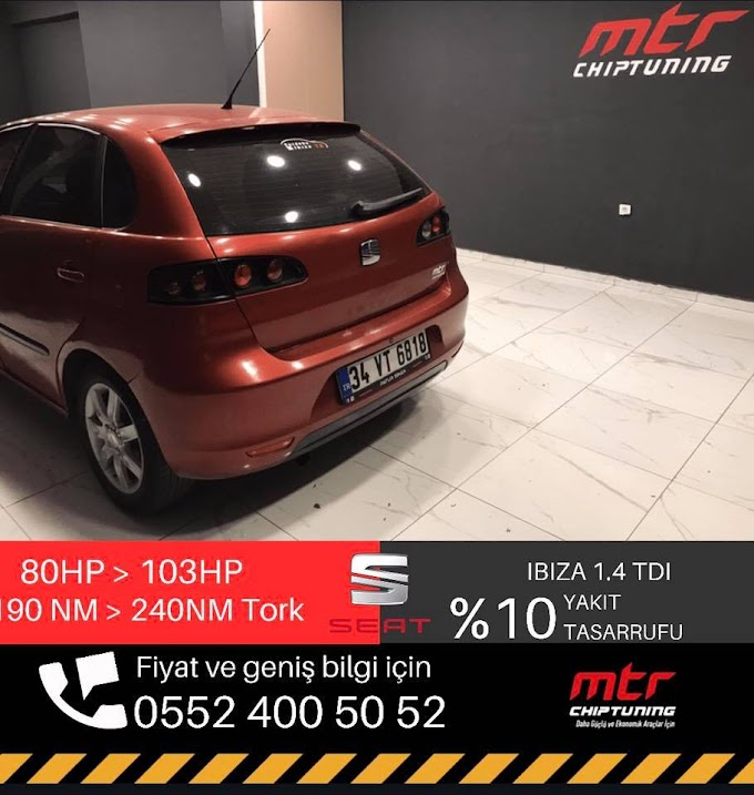 Seat Ibiza 1.4 TDI 80 Hp Yazılım Stage 1