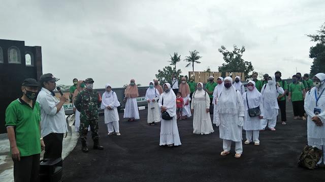 KodimKaranganyar - Pelatihan Manasik Haji Disaat Pemberlakuan New Normal Dalam Menghadapi COVID 19 Wajib Ikuti Protokol Kesehatan