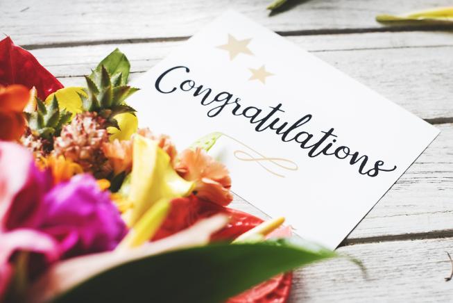 Congratulazioni in inglese