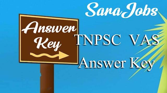 TNPSC VAS Answer Key