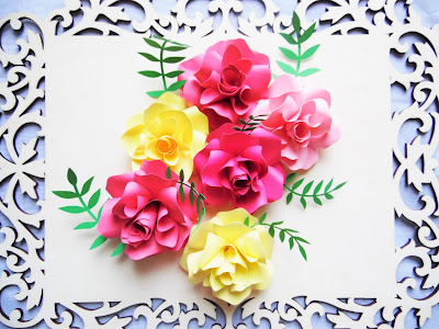 paper flowers. paper rose templates