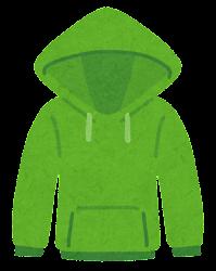 パーカーのイラスト(緑)