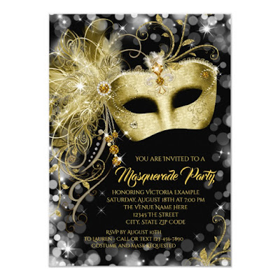 New Year Masquerade Party Invitation