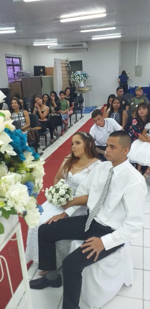 Unidade Prisional de Ressocialização de Chapadinha promove primeiro casamento de internos.