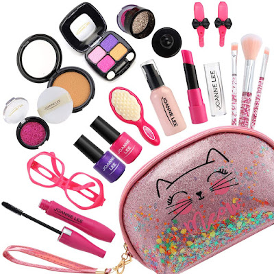 Halema Play Makeup for Toddlers, 17Pcs Pretend Makeup for Girl