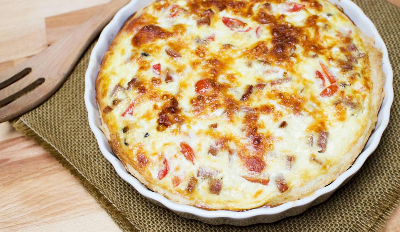Tomato-Mushroom Quiche,