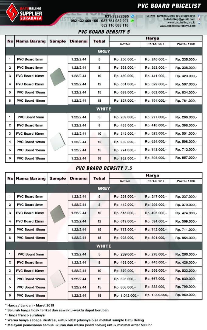 Harga & Spesifikasi PVC Foam Board