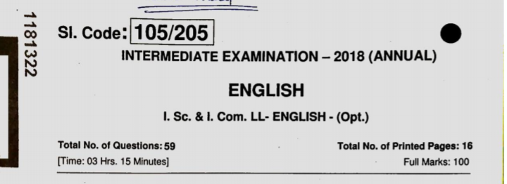 BSEB 12th English 100 marks
