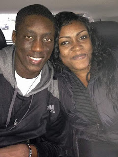 Tony Snell With His Mother C Sherika