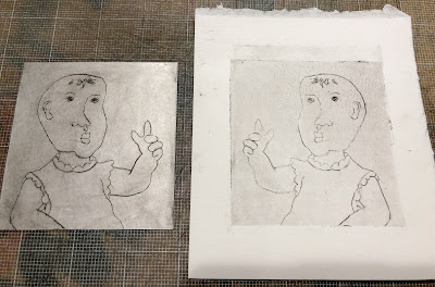 Intaglio test print judith hoffman