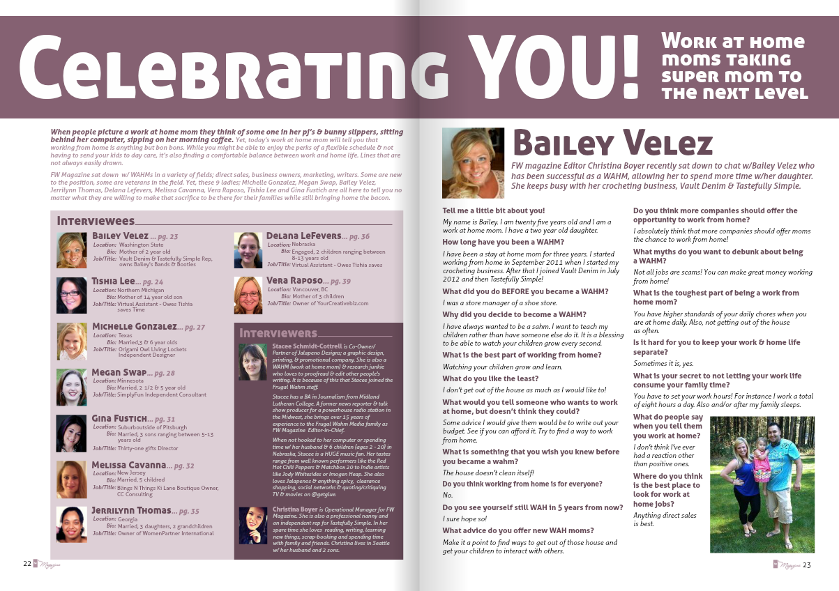 Michael T. Cottrell: Celebrating YOU! FW Magazine Article ...