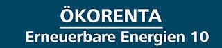 ÖKORENTA Erneuerbare Energien 10 Umweltfonds hochrentabel Festzins Kapital Anlage Zins Einnahmen Ökologische Geldanlagen 2019 Rendite Auszahlung Logo