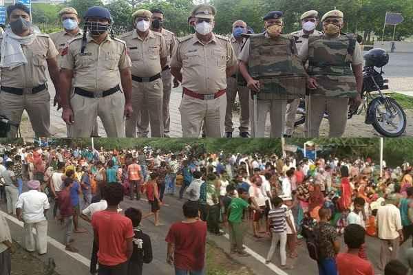 khori-gaon-surajkund-faridabad-police-ready-for-demolishan