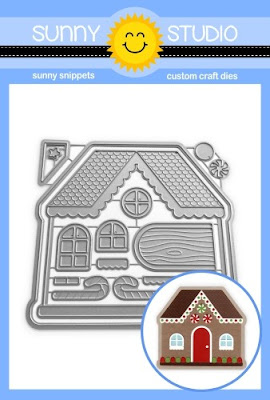 Sunny Studio Stamps Gingerbread House Shaped Christmas Holiday Metal Cutting Dies