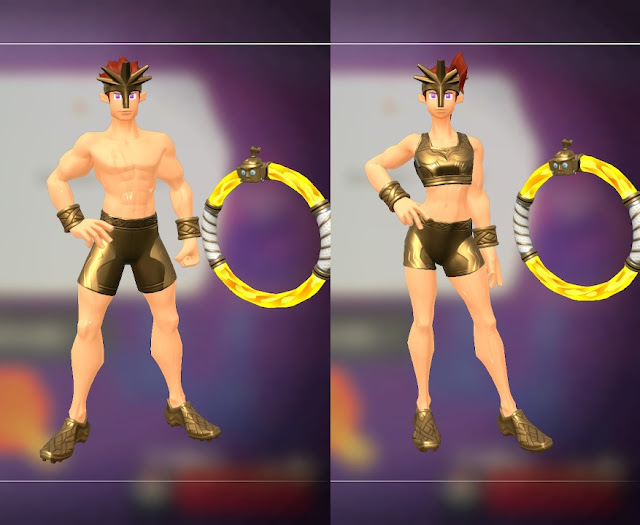 Ring Fit Adventure Armored Muscle outfit man woman fan service model