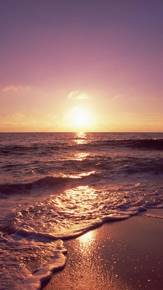 Free Download Ocean Beach Sunset HD iPhone 5 Wallpapers ...