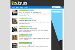 Brosense Template Blogger untuk Adsense Cepat Payout