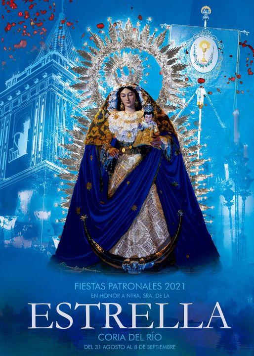 Cartel de Santísima Virgen de la Estrella, Patrona de Coria del Río 2021