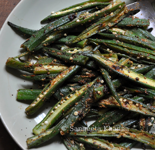 steamed okra