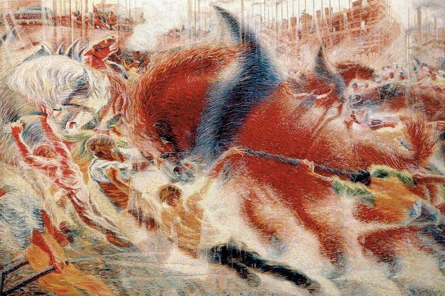 Umberto Boccioni, la città che sale, 1910